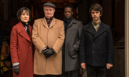 London Spy's Harriet Walter, Jim Broadbent, Adrian Lester and Ben Whishaw.