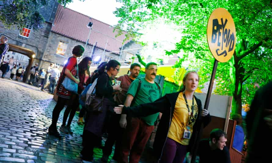 'It will leave a great hole in our lives' … Fringe customers queue at the Pleasance Beyond in Edinburgh.