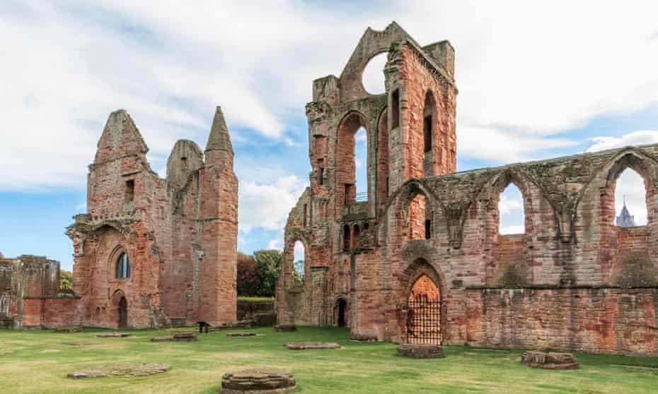 Arbroath Abbey, in the Scottish town of Arbroath.