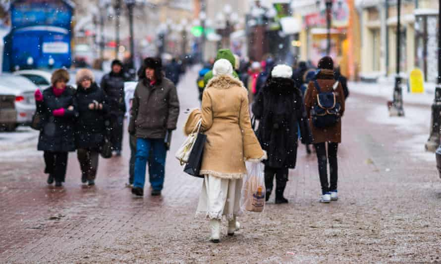 Street scene in Moscow.