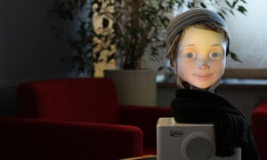 Furhat, a 'social' and conversational robot.