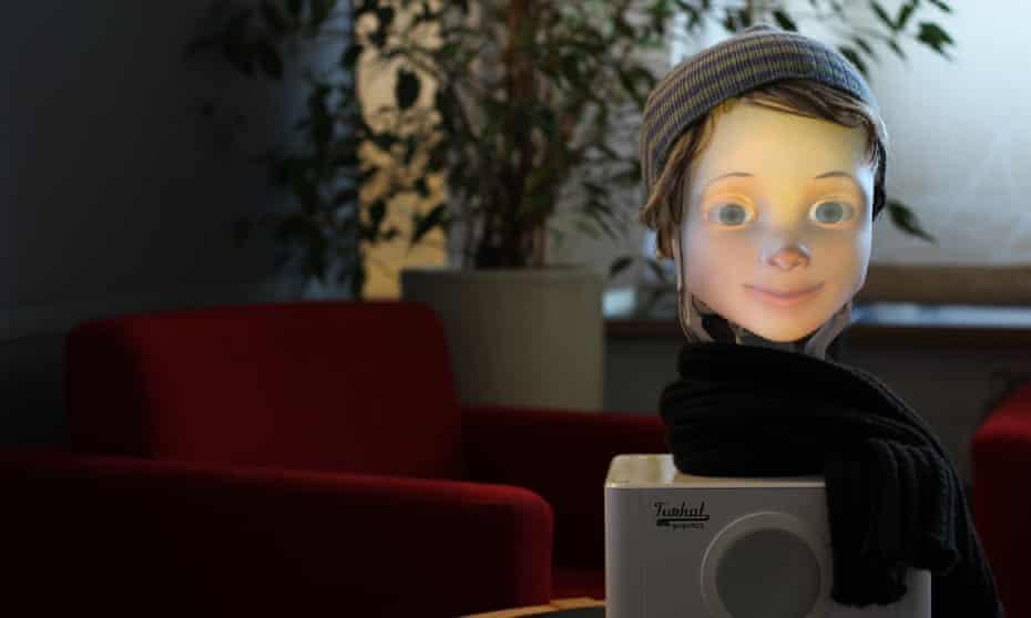Furhat, a 'social' and conversational robot.