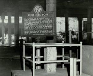 The Zero Mile Post Marker in 1958.