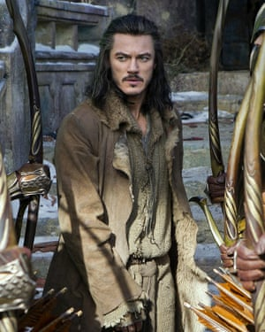 Evans as Bard the Bowman in The Hobbit: The Battle of the Five Armies.