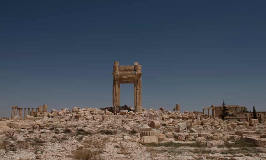 What remains of the Temple of Bel in Palmyra, Syria.