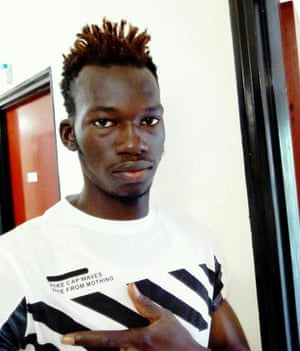 Amadou Sumaila, photographed in the migration centre in Sicily, is still waiting for news on his asylum application.