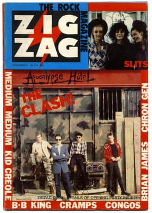 The Clash outside the Frestonia's Apocalypse Hotel.