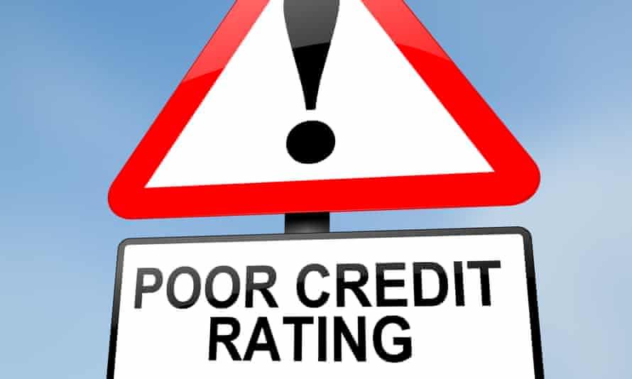 A poor credit rating warning sign.