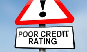 Poor credit rating sign