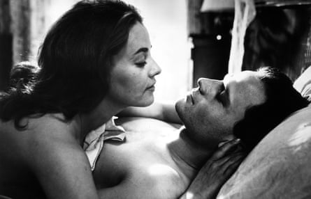 Jeanne Moreau and Jean-Marc Bory in Louis Malle's The Lovers ).