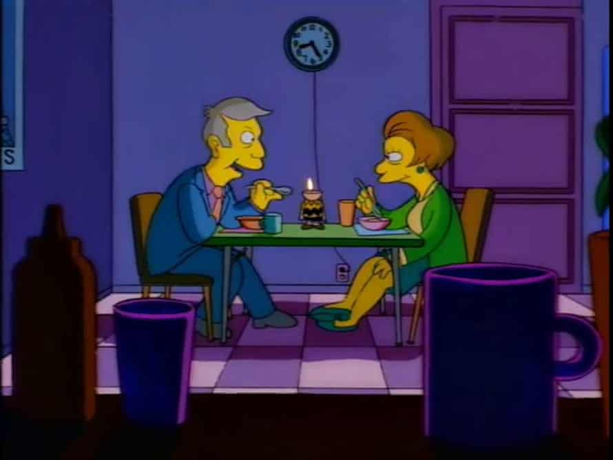 Principal Skinner: This dessert is exquisite. What do you call it?Mrs. Krabappel: Applesauce.