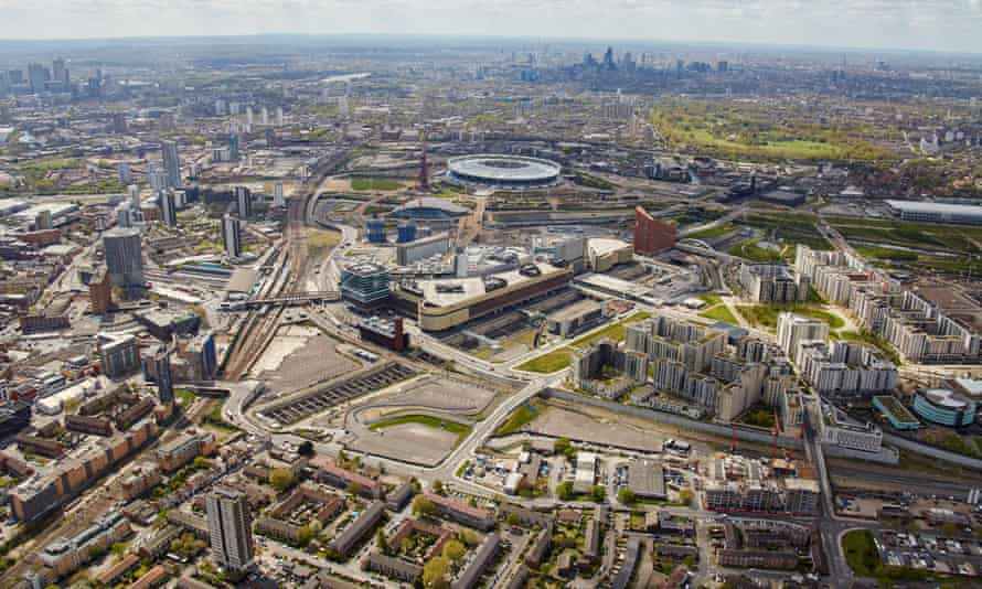 The proposed site is a triangular wedge of land behind Stratford station.