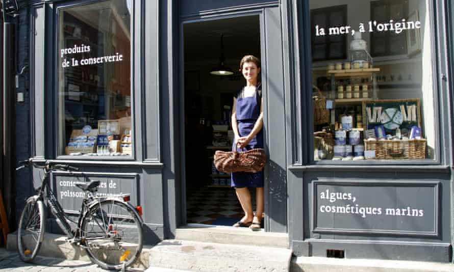 Anne-France outside her shop La Sardine, in St-Valery.