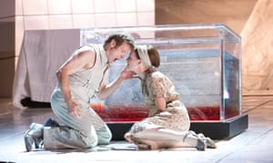 Simon Keenlyside as Wozzeck and Allison Cook as Margret in Wozzeck by Alban Berg at the Royal Opera House, 2013.