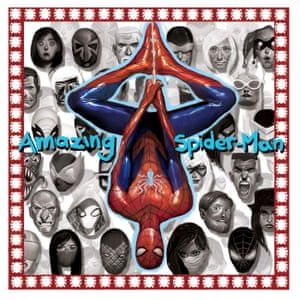 Marvel Amazing Spider-Man #1 artwork by Mike Del Mundo (A Tribe Called Quest's Midnight Marauders).