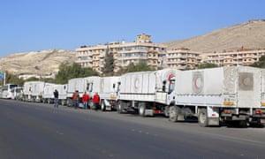 UN truck convoy in Syria