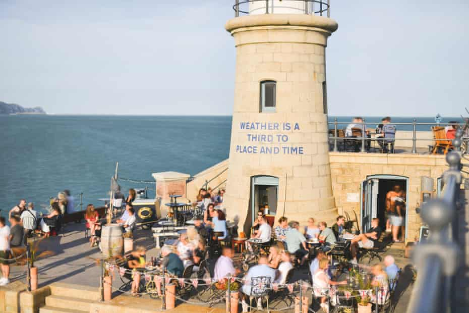 Folkestone's redeveloped Pier Head Lighthouse and harbour