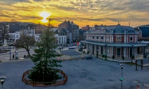 Spa's main square between Christmas and New Year, when Rachel Hall visited.