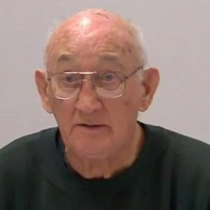 Paedophile priest Gerald Ridsdale, giving evidence via video link from jail about abuse in Ballarat.