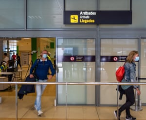 Tourist arrive on the first day that Girona-Costa Brava airport allowed flights to go ahead since lockdown. The first flight landed from Eindovhen, Netherlands.