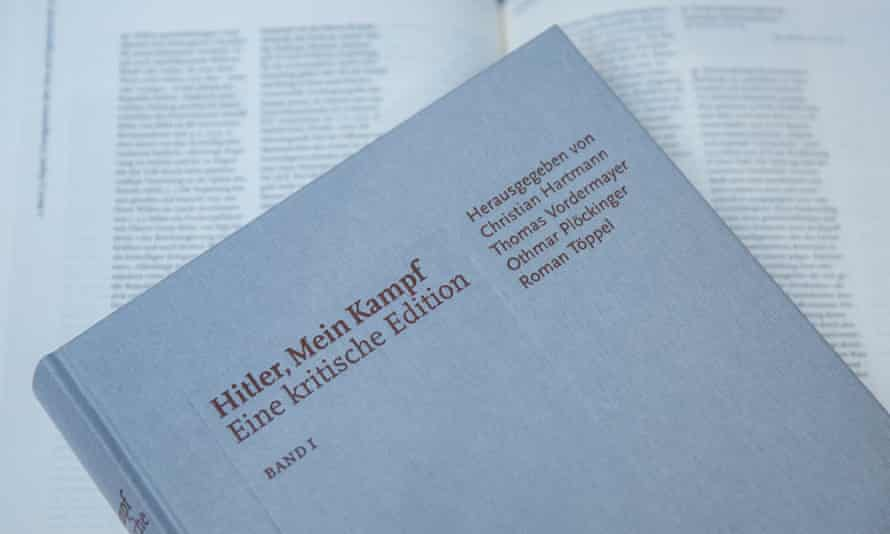 A copy of the new edition of Mein Kampf, which has been published in Germany