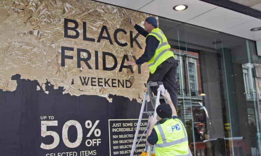 Black Friday promotion sign