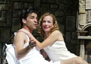 Alan Westaway and Laura Main at Regent's Park Open Air theatre, London, in 2002.