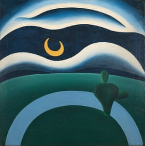 Into orbit … The Moon, 1928, by pioneering female modernist Tarsila do Amaral.