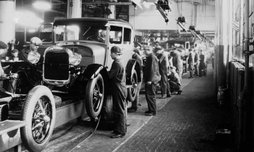 Ford assembly line workers