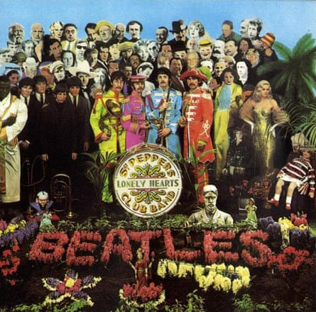 Stockhausen is among the figures on the Beatles album cover of Sgt Pepper's Lonely Hearts Club Band (1967)