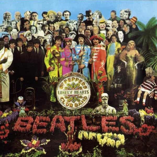 The album cover of Sgt Pepper's Lonely Hearts Club Band (1967).