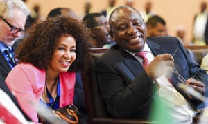 South African foreign minister Lindiwe Sisulu with President Cyril Ramaphosa