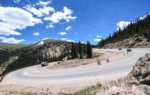 In Colorado, even hairpins are long sweeping corners.