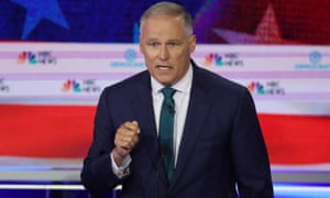 Washington governor Jay Inslee: 'To my surprise, I'm the only candidate who has made the commitment to make this [the climate crisis] the top priority.'