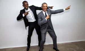 Usain Bolt and President Obama in Jamaica in 2015.