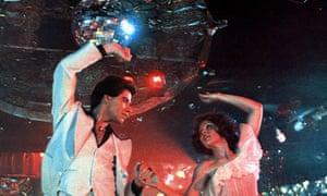 John Travolta and Karen Lynn Gorne in Saturday Night Fever.