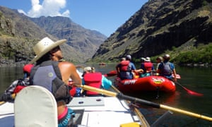 Rafting in Hells Canyon, US