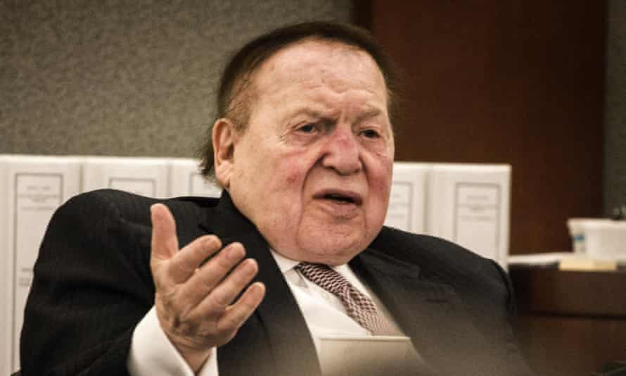 Adelson said: 'I worked my whole life, coming from the other side of the tracks.'