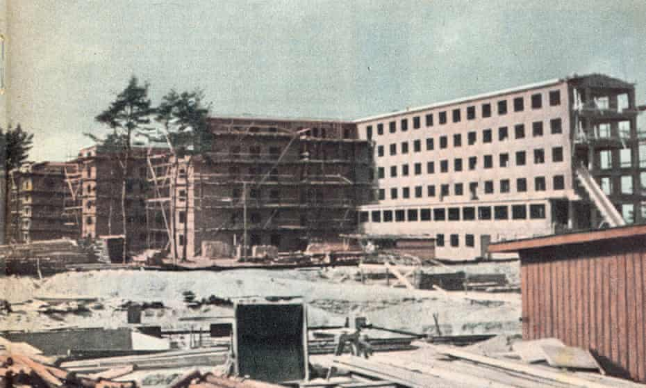 The Prora resort on the Isle of Rügen under construction in 1939.