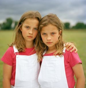 Identical twins Yazmyne (left) and Xanthe Hale
