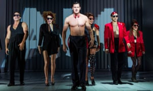 Style over substance? Benjamin Walker, center, and the cast of American Psycho.