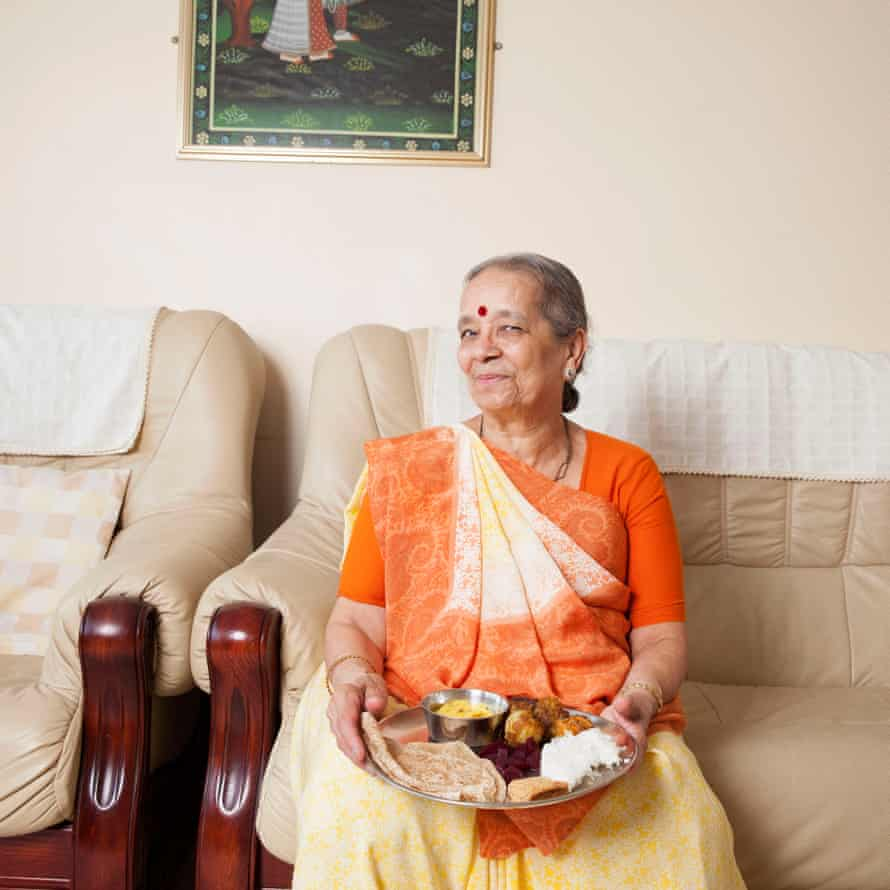 Grandmas, we love you: Rajni Jesrani at home in Leicestershire.