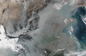 Thick haze in eastern China during the extreme air pollution event January 2017