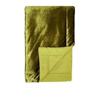 green velvet throw from next