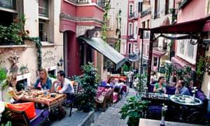 Back streets near Istiklal shopping street in Beyoğlu, Istanbul.