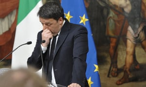 The Italian prime minister, Matteo Renzi, has said he will submit his resignation on Monday afternoon.