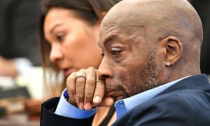 Dewayne Johnson during the Monsanto trial in San Francisco, California.
