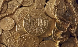 photo of spanish gold coins