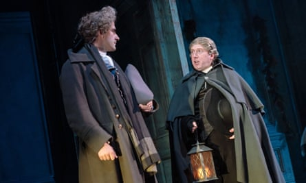 Adrian Scarborough, right, in The Madness of George III.