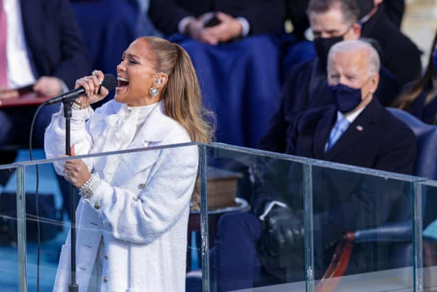 Jennifer Lopez with Joe Biden